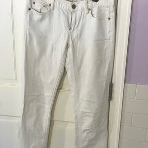 JCrew Matchstick Jeans in white